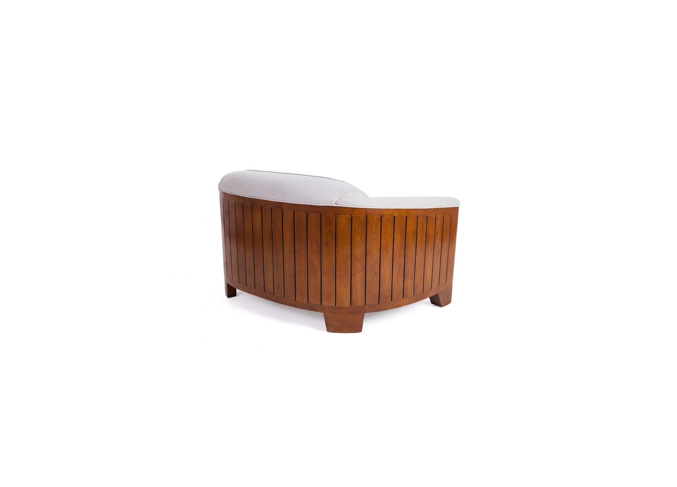 canap club cano beige 2 3 places bois et tissu. Black Bedroom Furniture Sets. Home Design Ideas
