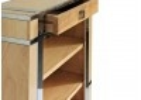 Bibus / étagère Aston inox et bois finition naturelle
