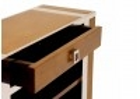 Bibus / étagère Aston inox et bois finition Miel