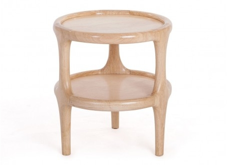 Table d'appoint ronde Daytona finition bois naturel