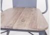 Chaise Alba grise en métal et assise en bois