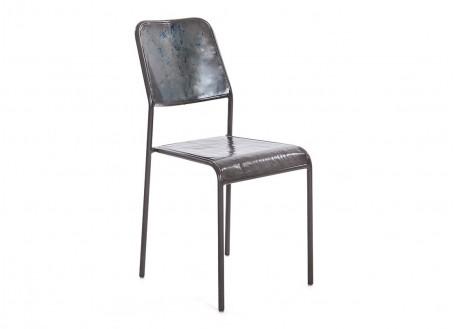 Chaise en métal drum Kléo
