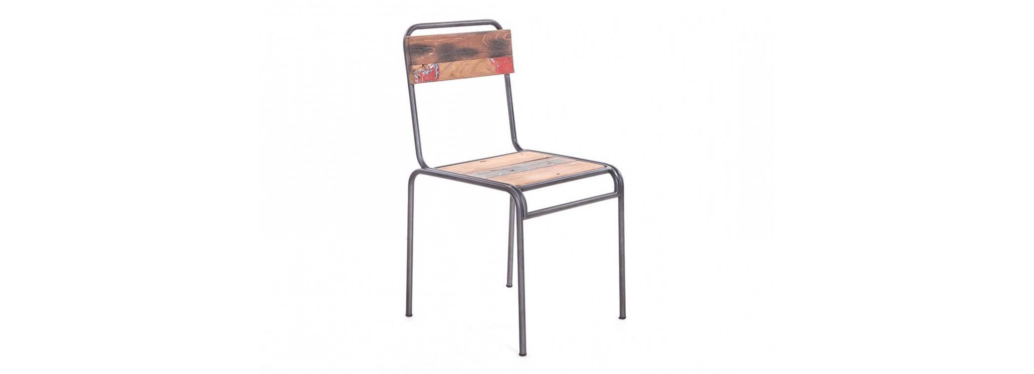 Chaise Impact - Dossier et assise bois