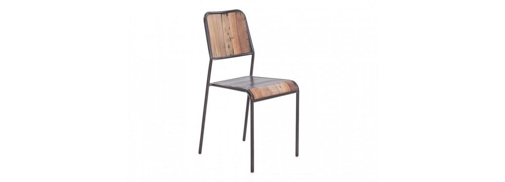 Chaise Cube - Dossier et assise en bois