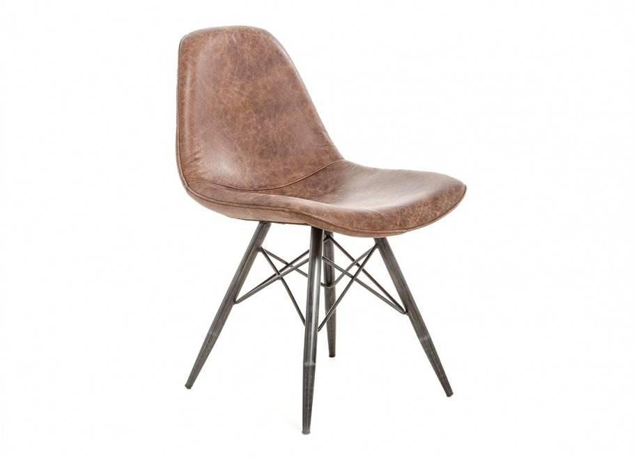 Chaise en cuir vintage - H82 cm