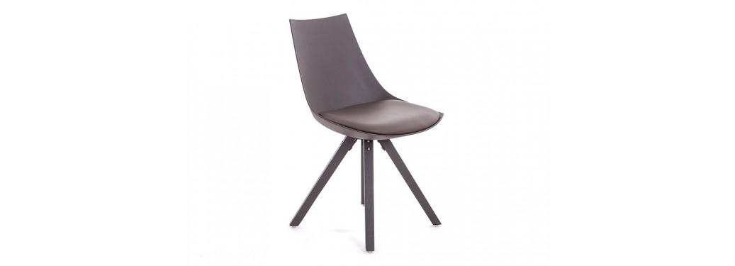 Chaise scandinave Olsen marron - Cuir synthétique