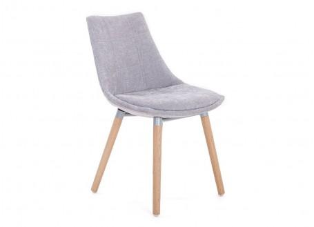 Chaise gris clair en tissu panama - L 46 cm