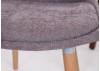 Chaise marron glacé en tissu panama - L 46 cm