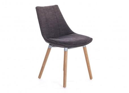 Chaise noire en tissu panama - L 46 cm