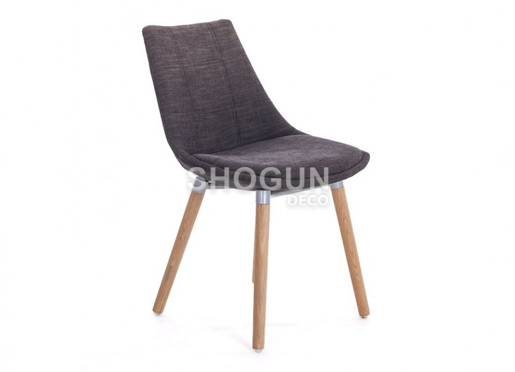 Chaise Noire En Tissu Panama