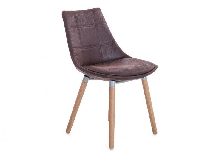 Chaise marron en tissu vintage - L 46 cm