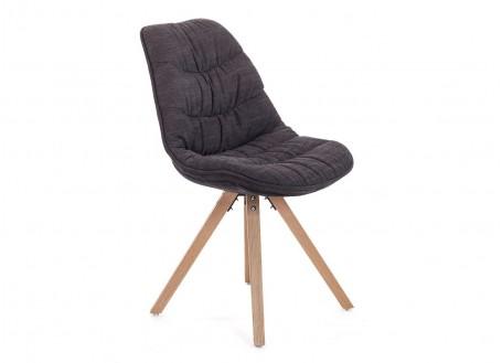 Chaise matelassée marron en tissu - L 50 cm