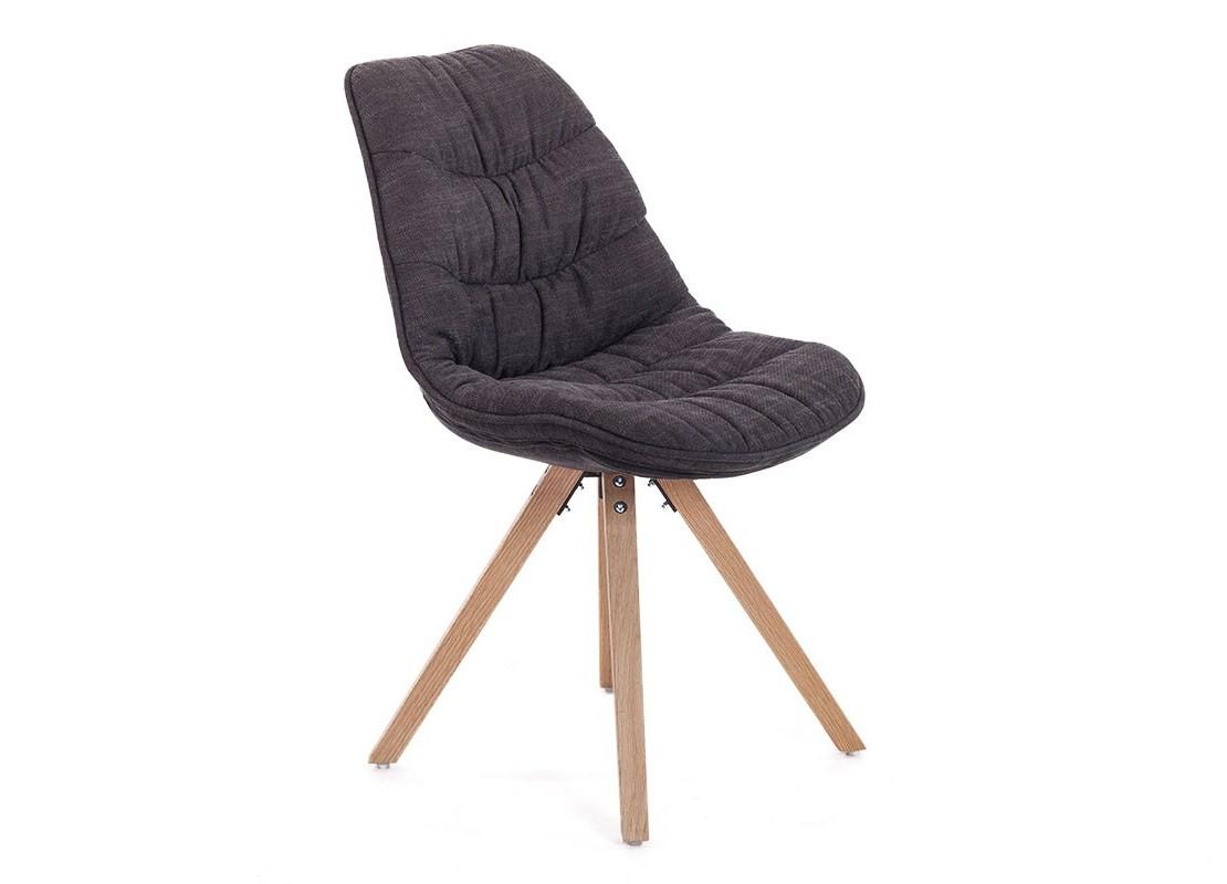 scandinave matelassée en Chaise noire tissu e2WEDHIYb9