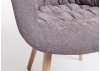 Chaise avec accoudoirs en tissu panama marron glacé - L62 cm