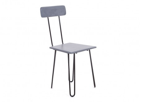 Chaise Air Pin - Ciment et pieds en épingle