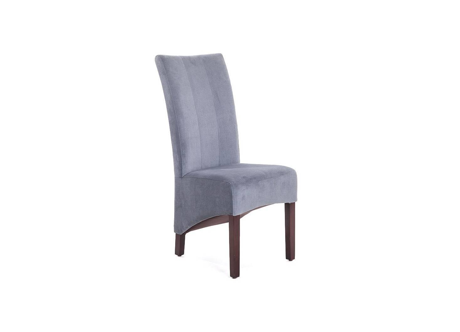 Chaise Bovary en velours microfibre gris