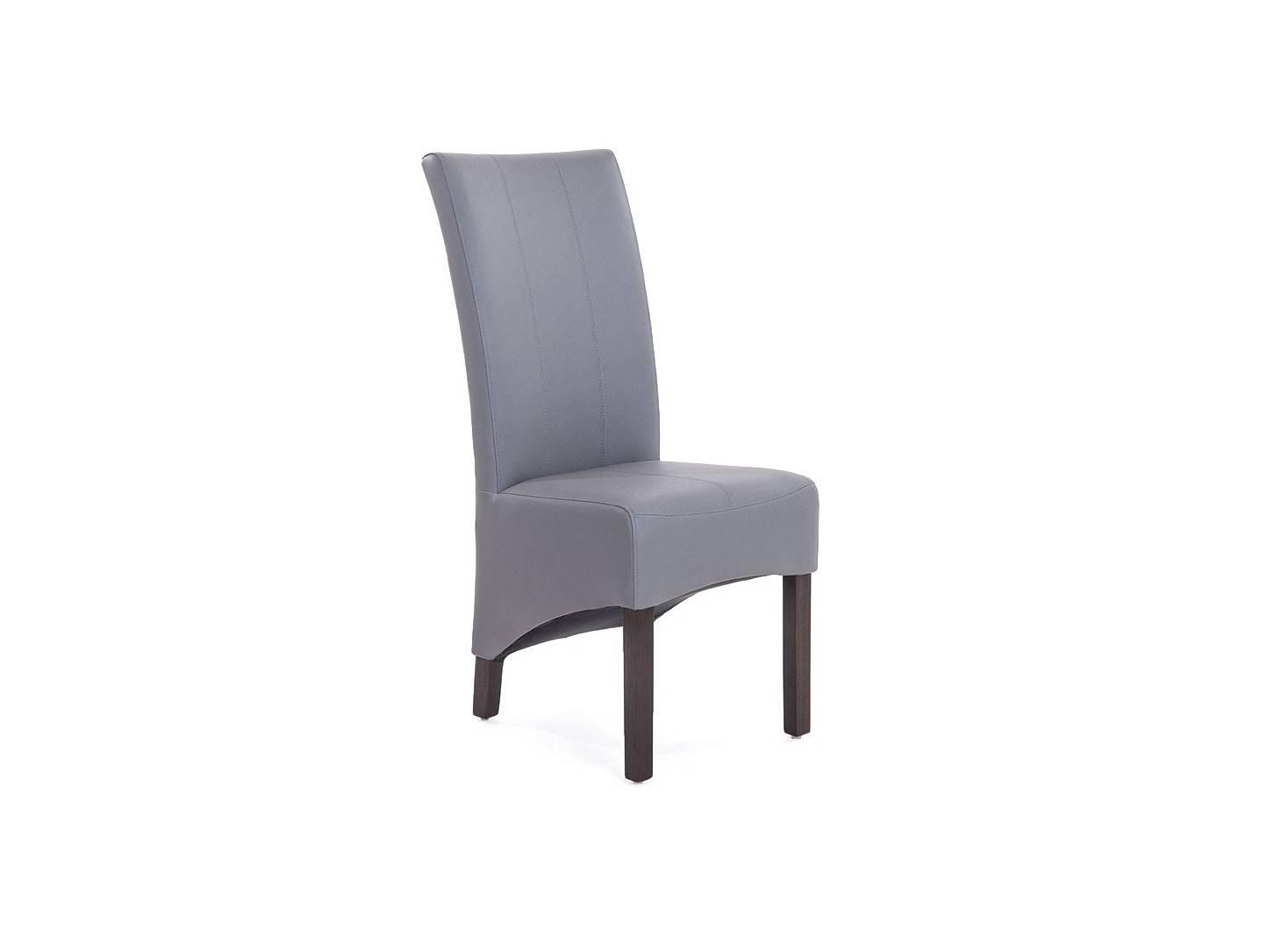 Chaise Bovary en cuir recyclé coloris gris