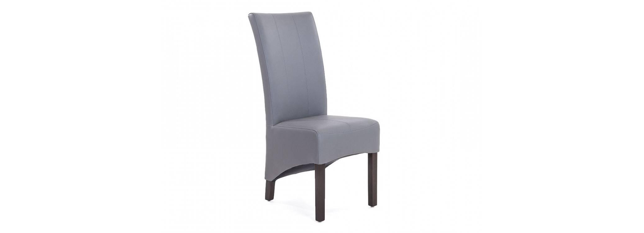 Chaise Bovary - Cuir recyclé gris