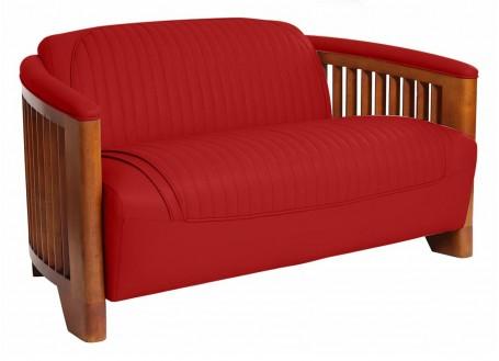 Canapé club Ibiza cuir rouge
