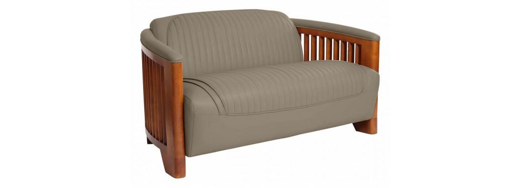 Ibiza sofa - Taupe leather