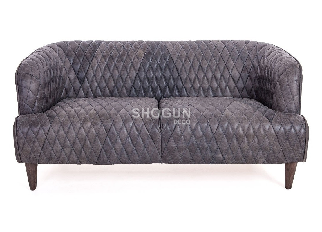 canap club vouvali cuir noir ebony et structure en bois. Black Bedroom Furniture Sets. Home Design Ideas