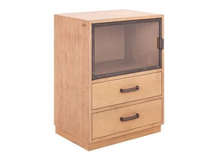 Module bas de bibliothèque, 1 porte / 2 tiroirs - H77 cm