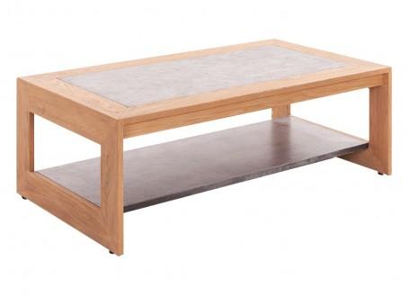 Table basse rectangulaire Eiffel, finition naturelle