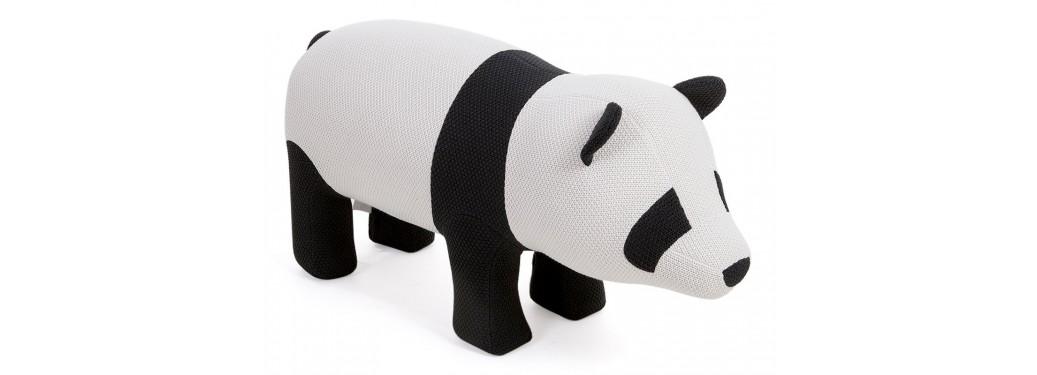 Pouf - tabouret panda. 105 cm