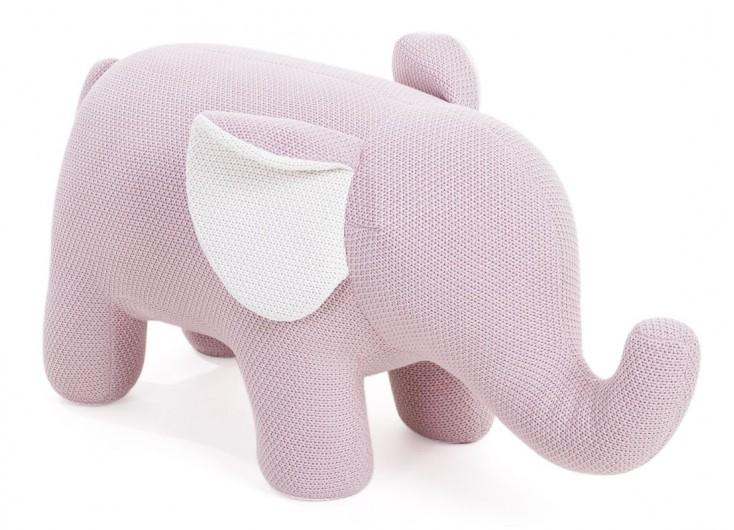 Pouf - tabouret bébé éléphant rose. 95 cm