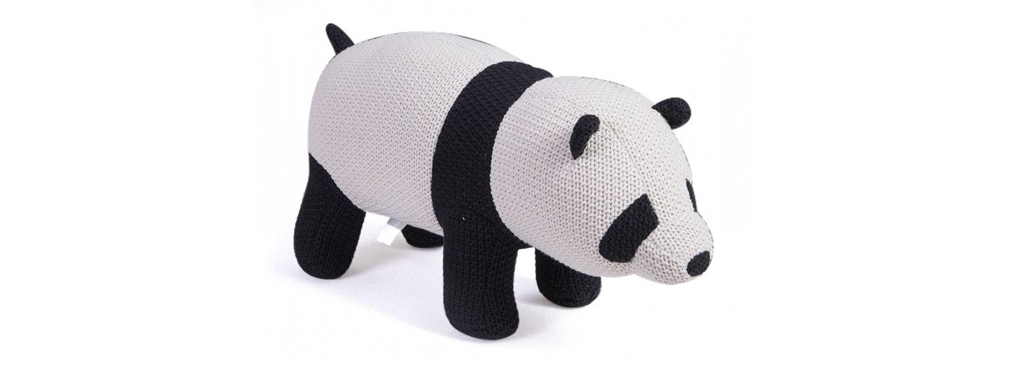 Pouf - tabouret panda bébé. 80 cm