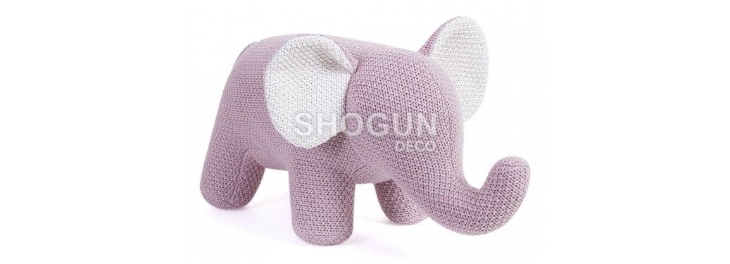 Mini éléphant rose. 48 cm