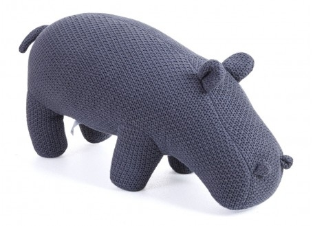 mini hippopotame gris. 50 cm