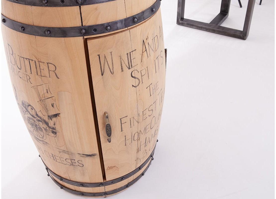 Meuble En Tonneau De Vin bar avec pied en tonneau à vin