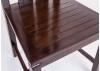 Chaise harmonie en bois de teck teinté