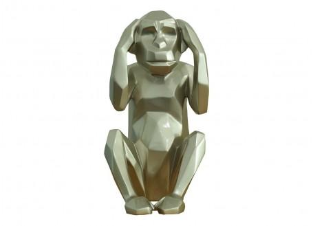 Statue singe de la sagesse Kikazaru -H38cm