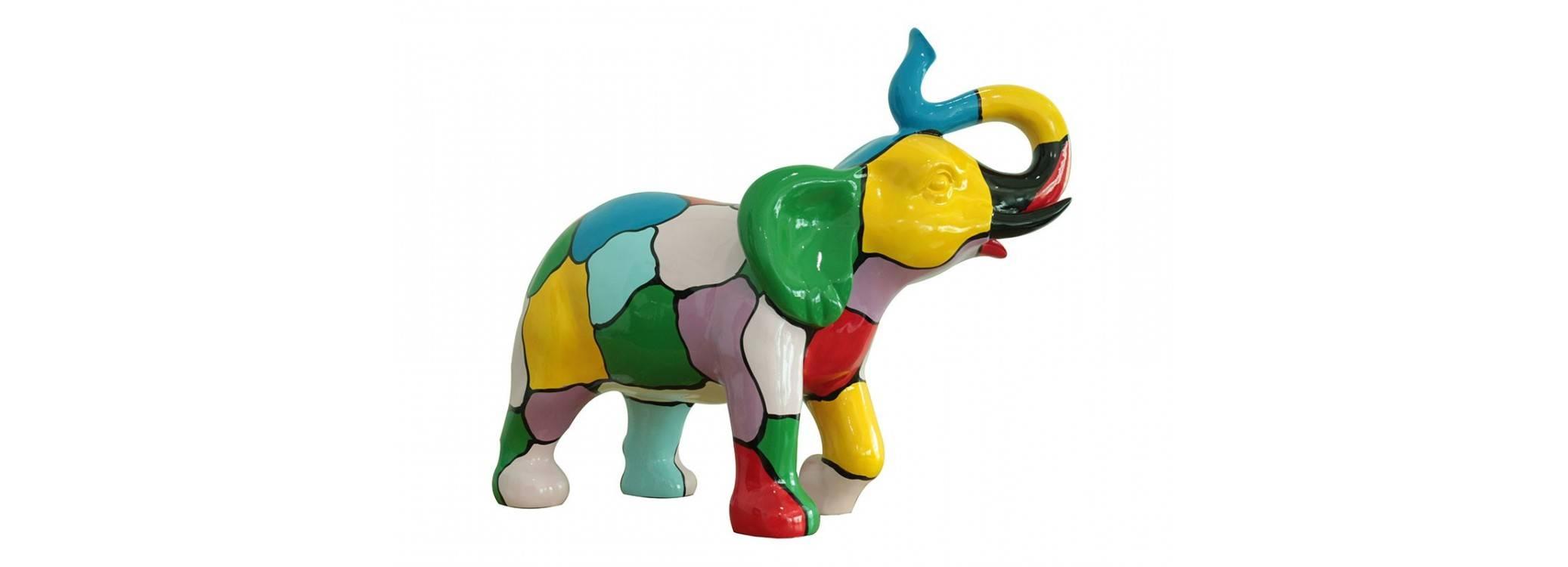 Statue éléphant en résine