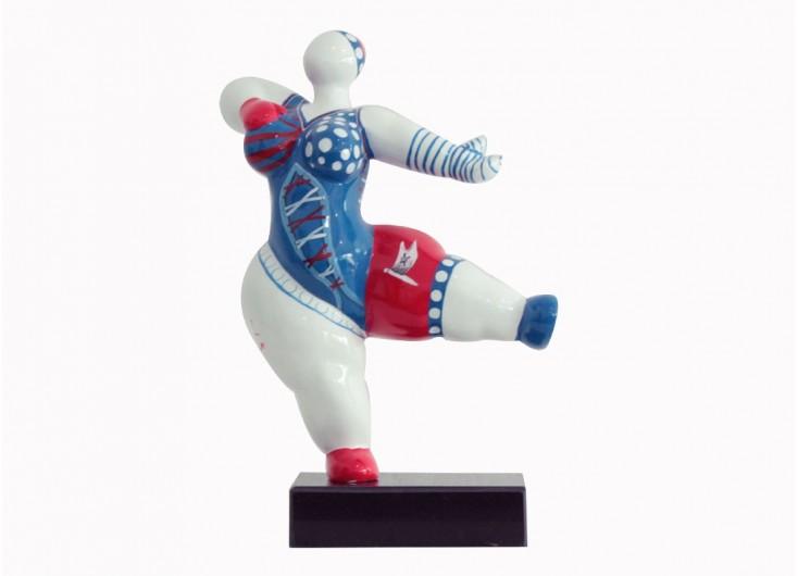 Petite statue en résine femme ronde maillot de bain invitation -H33cm