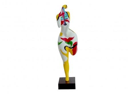 Statue femme ronde, amoureuse. Bodypainting-H59cm