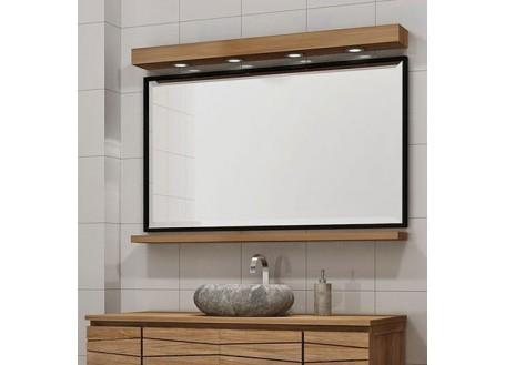 Miroir Harmony + Bandeau lumineux + étagère -L120cm