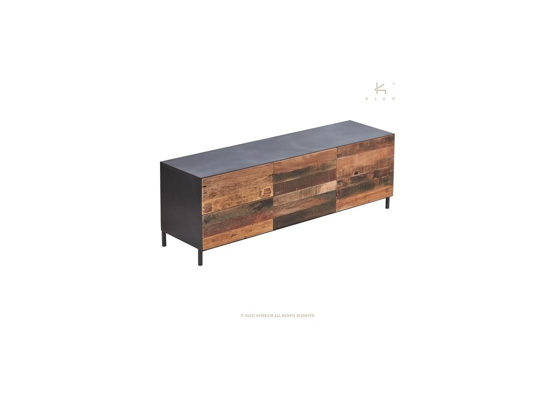 Poignée De Meuble Industrielle meuble tv pure, 6 tiroirs - l160 cm