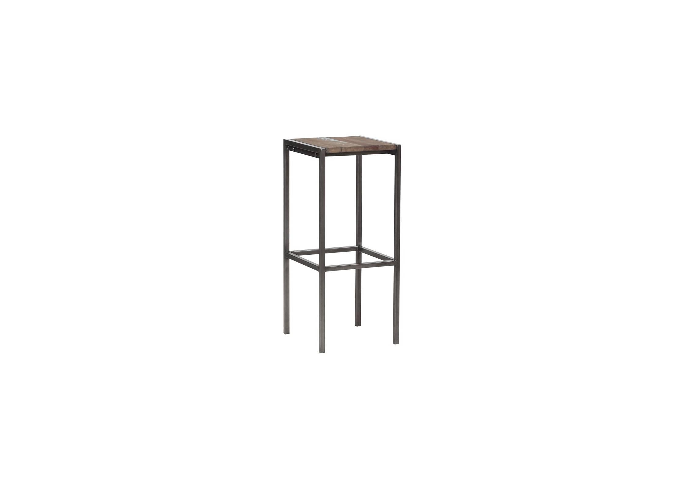 tabouret de bar industriel bois massif et structure en. Black Bedroom Furniture Sets. Home Design Ideas