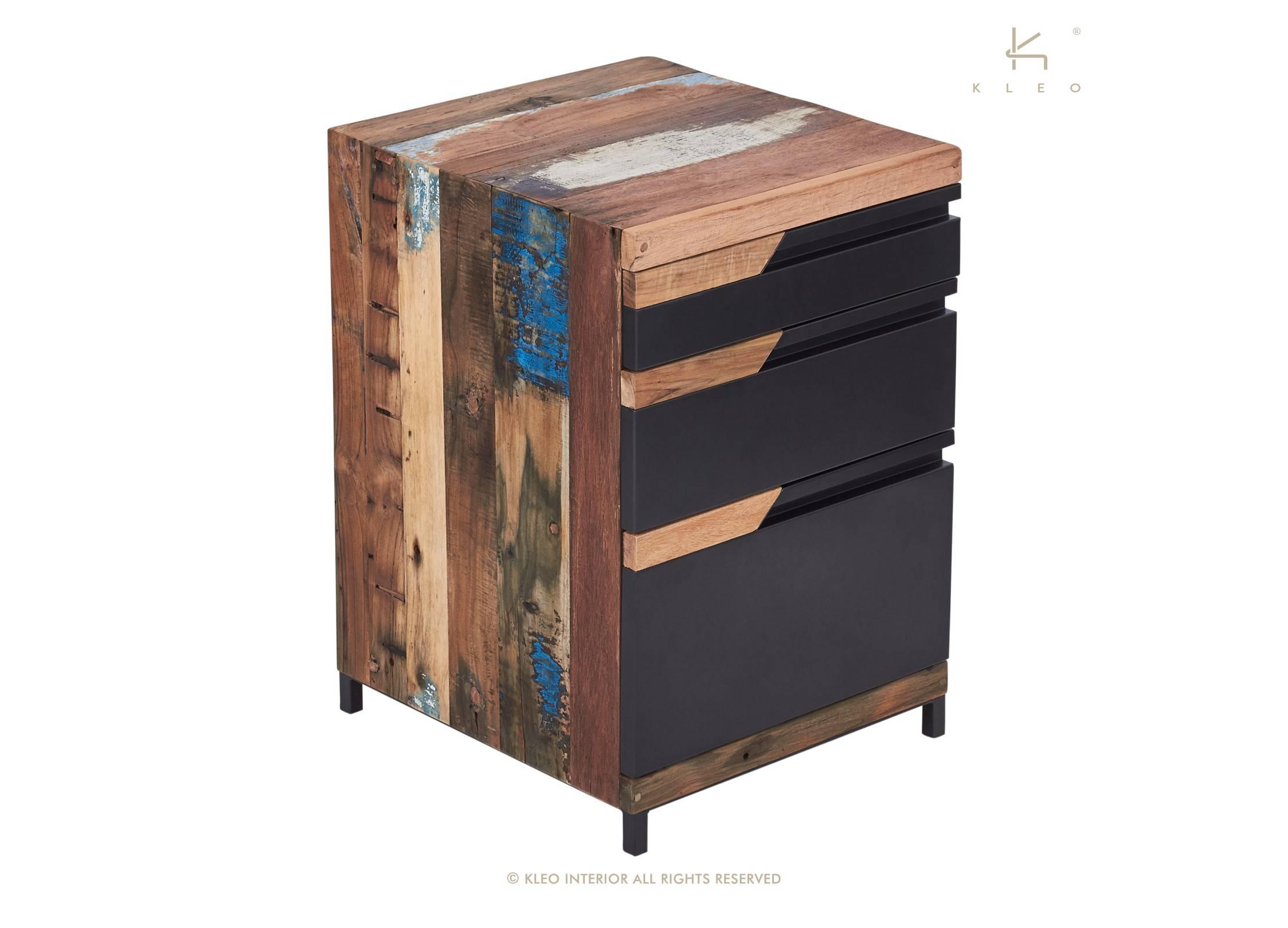 caisson de bureau nako 3 tiroirs h70 cm. Black Bedroom Furniture Sets. Home Design Ideas