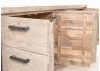 Buffet Acacia et métal satiné TUNDRA 200cm