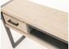 Console Acacia et métal satiné TUNDRA 100 cm