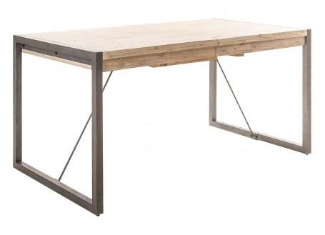 Table repas extensible Acacia - bois clair