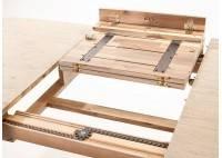 Grande table repas Acacia et métal 200 -250 cm - bois clair