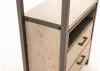Bibliothèque - Étagère Acacia et métal - bois clair