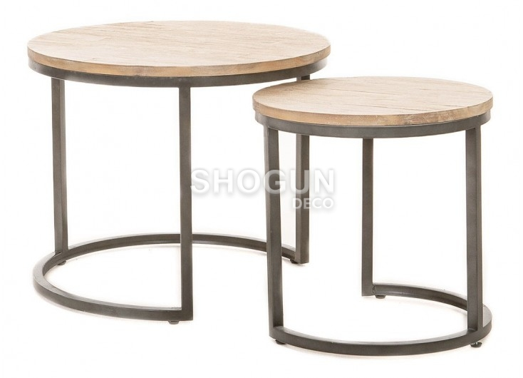 Set de deux tables gigognes rondes Tundra