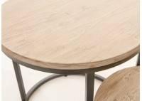 Table d'appoint, deux plateaux ronds - Tundra