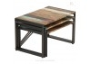 Set de 3 tables gigognes industrielle Edito